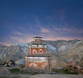 Ancient Bon stupa in Dolpo, Western Nepal Royalty Free Stock Photo
