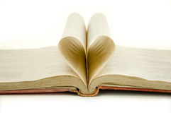 Ancient book. With heart isolated on white background Royalty Free Stock Image