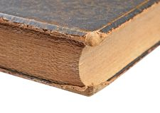 Ancient book close-up Stock Images