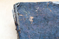 Ancient book close-up, on white background. Royalty Free Stock Photos
