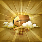 Ancient book and clouds Royalty Free Stock Image