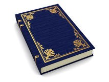 Ancient book. 3d illustration of blue ancient book over white background Royalty Free Stock Image