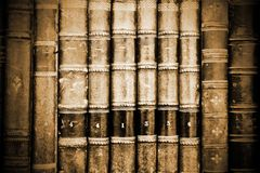 Ancient Bookds. Close-up of old books Stock Photos
