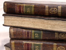 Ancient Books. Stacked Stock Photo