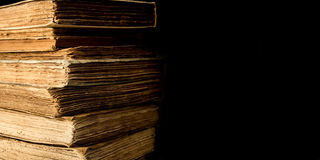 Ancient books - Copyspace. Some ancient books on the table. Copyspace stock photo