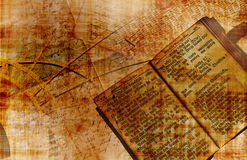 Ancient books. Design made of ancient books and documents in grungy style Royalty Free Stock Image