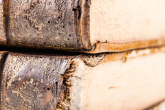 Ancient books detail Royalty Free Stock Photo
