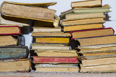 Ancient books. Pile of old and dusty books Royalty Free Stock Photo