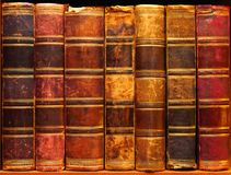 Ancient books on shelf in the library 1 Royalty Free Stock Image