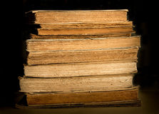 Ancient books. Some ancient books on the table. Close-up stock photography