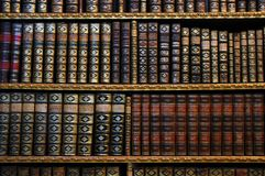 Ancient bookshelves. Bookshelves with ancient books - great knowledge, information picture Royalty Free Stock Photos