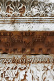 Ancient borders. Ancient Roman decorated borders in marble. Ephesus, Turkey royalty free stock photography