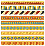 Ancient borders, frames. A set of ancient borders and frames / patterns. Seamless pattern (brushes included royalty free illustration