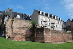 Ancient boundary wall in the French city Le Mans Stock Photography