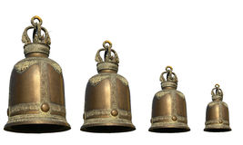 Ancient brass bells Stock Photo
