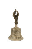 Ancient brass hand bell Stock Images