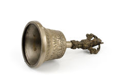 Ancient brass hand bell Stock Photo