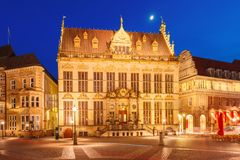 Ancient Bremen Market Square in Bremen, Germany Royalty Free Stock Photography
