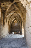 Ancient brick ceiling arches in the Byzantine Museum of the park Caesarea, Israel, summer. ISRAEL -July 30, Caesarea, 2015 in Israel Royalty Free Stock Images