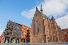 Ancient brick church in Nijmegen Royalty Free Stock Images