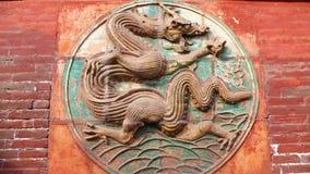 Ancient Brick dragon Stock Photo