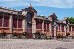 Ancient brick Halls in Colmar Stock Photos