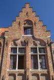 Ancient brick house in Bruges (Flanders, Belgium) Stock Photo