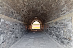Ancient brick passage Stock Images