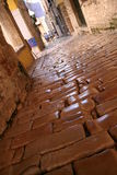 Ancient brick street Royalty Free Stock Images