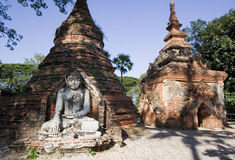 Ancient brick stupas at Inwa, Burma Stock Photography