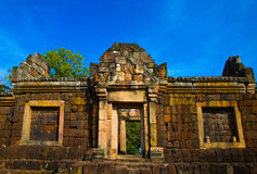 Ancient brick temple, a famous thai tourist travel destination. Royalty Free Stock Photo