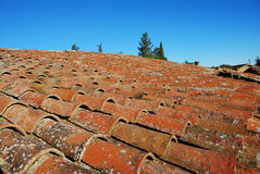 Ancient brick-tile roof Royalty Free Stock Photos