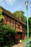 Ancient brick and timber house. This brick and timber house in Buckinghamshire is 500 years old Stock Photo