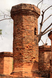 Ancient brick tower Royalty Free Stock Images