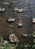 Ancient brick wall. An ancient, weathered brick wall (Vietnam Stock Photos