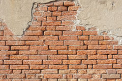 Ancient brick wall Stock Images