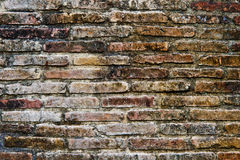 The Ancient brick wall background.  Royalty Free Stock Image