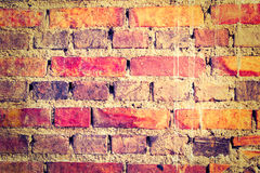 Ancient brick wall background Royalty Free Stock Images