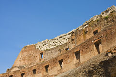 Ancient Brick Wall of Coliseum Stock Image