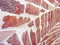 Ancient brick wall of the old building, brick background royalty free stock photos