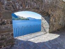 Ancient brick wall opening Royalty Free Stock Photos