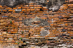 Ancient brick wall in red color Stock Photos