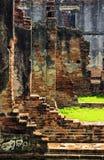 Ancient brick wall ruin Royalty Free Stock Photography