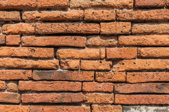 Ancient brick wall surface background texture Stock Photos
