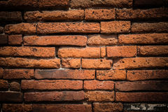 Ancient brick wall surface background texture Royalty Free Stock Photo