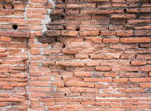Ancient brick wall. Royalty Free Stock Image
