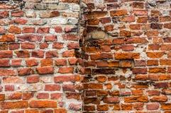 Ancient brick wall. Royalty Free Stock Photography