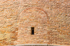Ancient brick walls with window Royalty Free Stock Photo