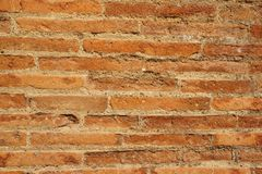 Ancient bricks. Background. A fragment of an ancient roman brick wall. Texture. Background Royalty Free Stock Images