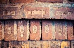 Ancient bricks Royalty Free Stock Images